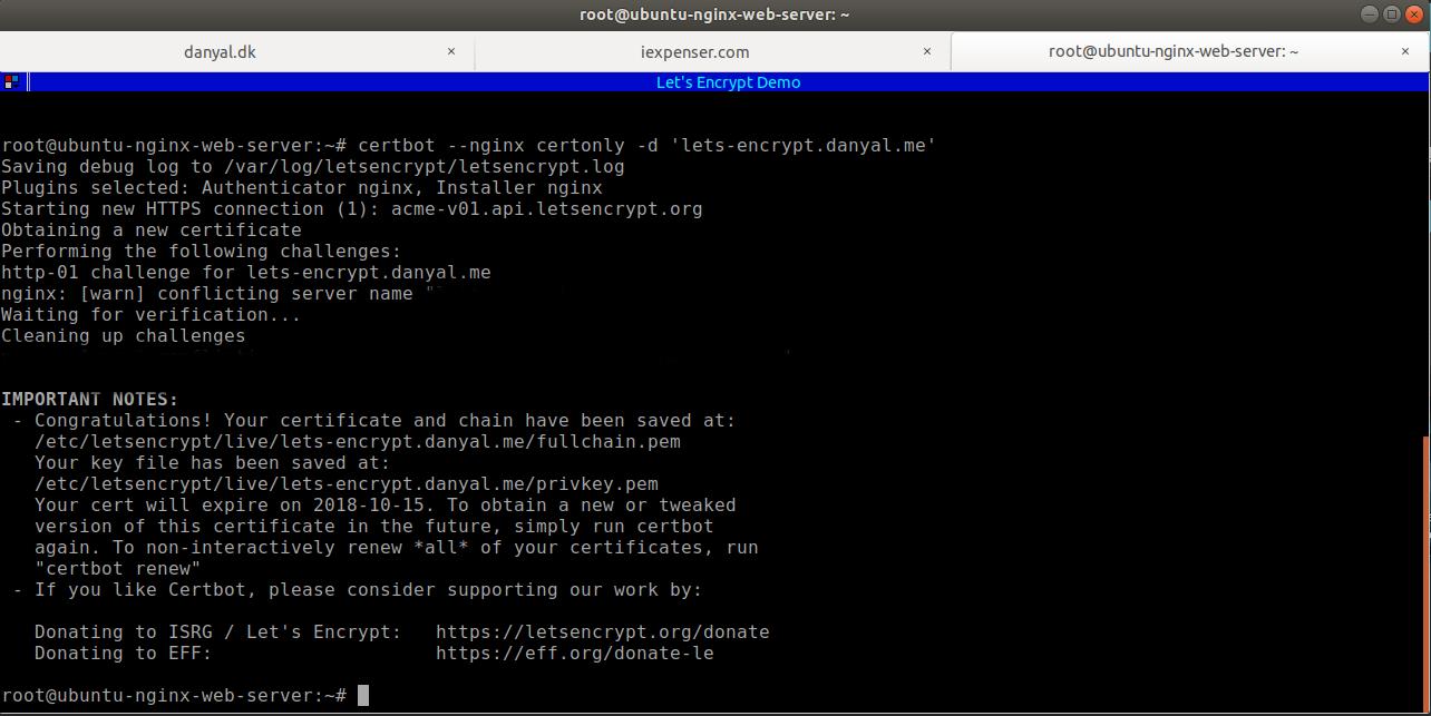 Generate Freessl Lets Encrypt Per Domain 13 Full Stack