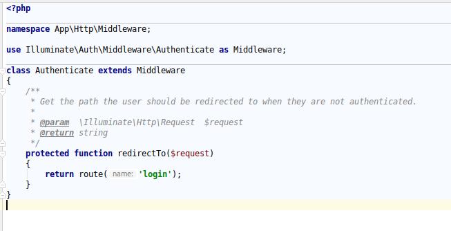 Laravel 5 7 Route [login] not defined – Full Stack Programmer